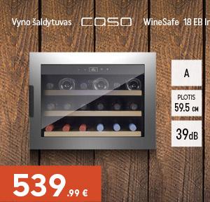 Vyno šaldytuvas Caso WineSafe 18 EB Inox