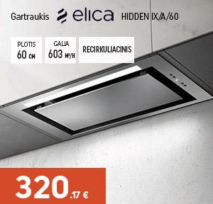 Gartraukis Elica HIDDEN IX/A/60 (Recirkuliacinis)