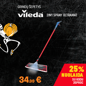 Grindų šepetys Vileda 2in1 Spray UltraMat