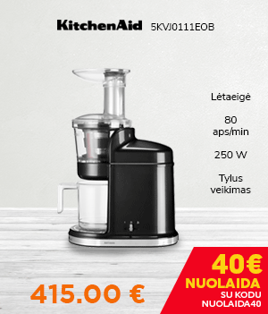 Lėtaeigė sulčiaspaudė KitchenAid 5KVJ0111EOB Black