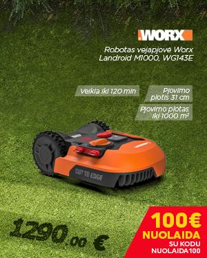 Robotas vejapjovė Worx Landroid M1000, WG143E
