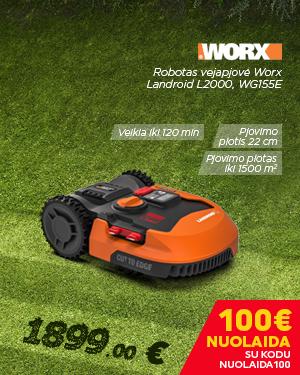 Robotas vejapjovė Worx Landroid L2000, WG155E