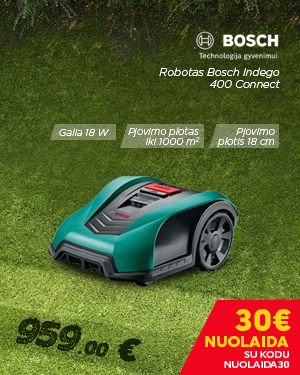 Robotas Bosch Indego 400 Connect