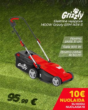 Elektrinė vejapjovė 1400W Grizzly ERM 1434-3