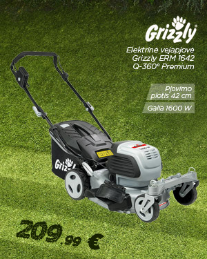 Elektrinė vejapjovė 1600W Grizzly ERM 1642 Q-360° Premium