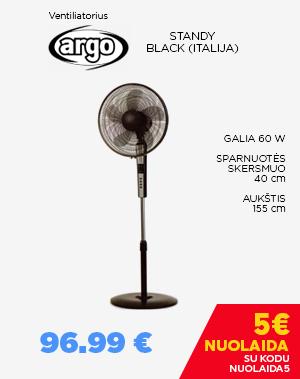 Ventiliatorius Argo Standy Black (Italija)
