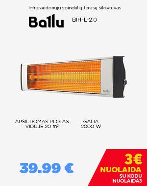 Infraraudonųjų spindulių šildytuvas Ballu BIH-L-2.0