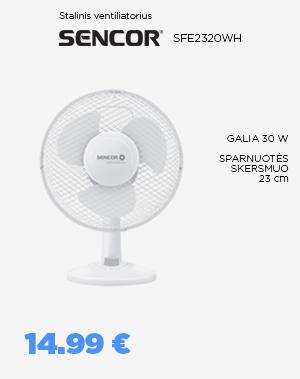 Stalinis ventiliatorius SENCOR - SFE2320WH