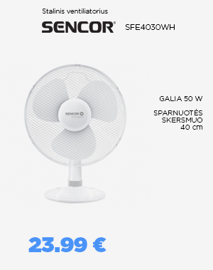 Stalinis ventiliatorius SENCOR - SFE4030WH