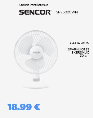 Stalinis ventiliatorius SENCOR - SFE3020WH